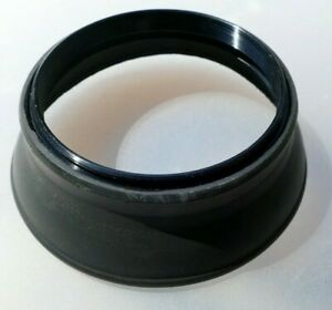 55mm Rubber Lens Hood Shade double threaded in the front for 50mm f1.4 f1.7
