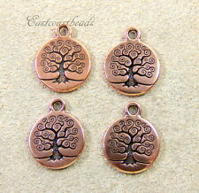 TierraCast Tree of Life Charms, Copper Plated, 20 Piece Bulk Bargain Buy,  0318