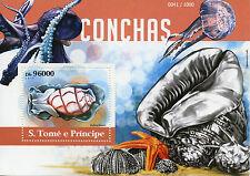 Sao Tome & Principe 2015 MNH Seashells 1v S/S Shells Marine