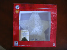 00006000 Home Accents Holiday White Star Tree Topper, 12.5 Inch, Led