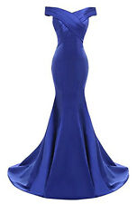 New Long Satin Prom Dress Bridesmaid Wedding Evening Formal Party Ball Gown