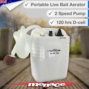 Live Bait AERATOR Air Pump 120+ hrs Fish Tank, Oxygen, Bubbles, Battery Aquarium