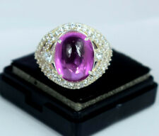 New Design 13.33 Ct Natural Padparadscha Pink Sapphire Ring in 925 Silver