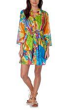 HHG multicolor cotton dress abito vestito donna con lacci cotone fantasia M BNWT