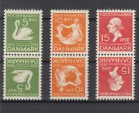 AZ5586/ DENMARK – Y&T # 229 – 231 / 232 MINT MNH TETE BECHE PAIRS – CV 130 $