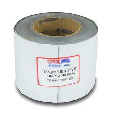 "New 4"" X 50' EternaBond RV Rubber Roof Seal Repair White"