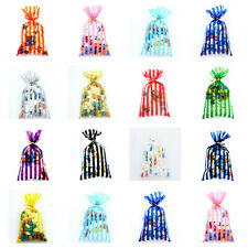 CELLOPHANE Coloured Stripe Bags-Sweets Treats Party Favour Gift