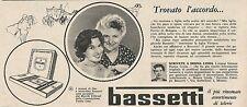 W1763 BASSETTI - Jole Ferrio di Bologna - Pubblicità del 1958 - Vintage advert