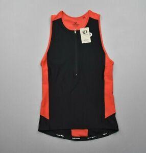 Pearl Izumi Mens Elite Pursuit Tri Triathalon Singlet Race Fit Black Red Size L
