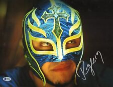 Rey Mysterio Signed 11x14 Photo BAS Beckett COA WWE Picture w/ Mask Autograph 2