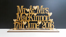 Mdf Personalised Wedding/ Anniversary Sign Mr & Mrs on stand
