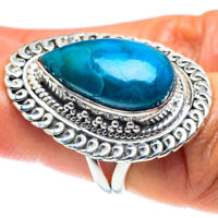 Chrysocolla 925 Sterling Silver Ring Size 6.5 Ana Co Jewelry R58722F