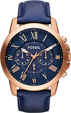 Fossil Grant Blue Dial Men's Watch - FS4835