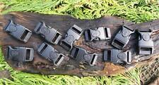 """10 x 15mm 5/8"""" CONTOURED CURVED LOCKING QUICK RELEASE PARACORD SURVIVAL BUCKLE"""