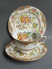 H M SUTHERLAND CHINA KIANG BLUE TEA CUP TRIOS (Ref3444)