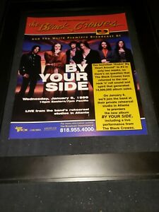 Black Crowes By Your Side Rare Original Radio Promo Poster Ad Framed!