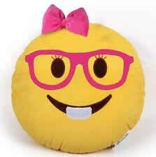 "USA SELLER Emoji Pillow 12"" Inch  Yellow Smiley 30cm Emoticon (Nerd Girl) Plush"