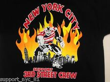 Hells Angels Support NYC 81 3rd st crew New York City's Beast T Shirt 4XL