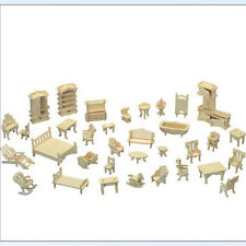 Holz Puppenhaus Möbel Jigsaw Miniature Modelle DIY Zubehör