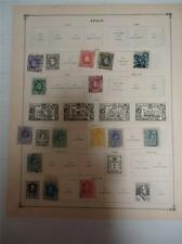 Lot of 15 Antique Spain Postage Stamps 1882-1925 - On Page - Make an Offer