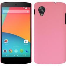 Funda Rígida Google Nexus 5 - goma rosa + protector de pantalla