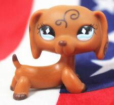 Littlest Pet Shop dog figure toys Lps128 DACHSHUND dog puppy diamond eyes