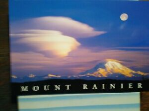 BEAUTIFUL PHOTO POST CARD AERIAL VIEW OVER MT.RAINIER WASHINGTON