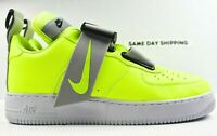 Nike Air Force 1 Utility (Mens Size 10) Shoes AO1531 700 Volt White Black