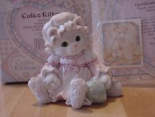 "Calico Kittens ""Extra Special"" Kitty Cat Holding Heart Figurine Enesco 1993"