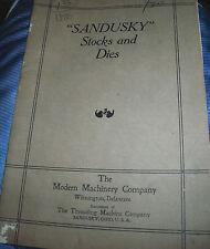 1919 Sandusky Stocks & Dies Catalog (Modern Machinery Co)