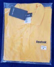 Gelbes Reebok Polo Shirt Gr. M / 50 mit body + soul Stickerei