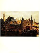 """1981 Vintage VERMEER DETAIL OF """"VIEW OF DELFT"""" GORGEOUS COLOR offset Lithograph"""