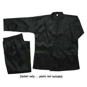 Karate JACKET GI TOP Black size 00,0,1,2,3,4,5,6,7,8 Taekwondo Martial Arts NEW