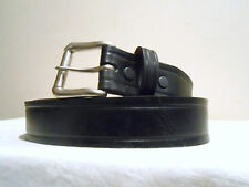 New Heavy Duty Black Cowhide Leather Belt Made in USA, Size 46  Any Size 28-48