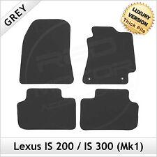 LEXUS è 200 300 mk1 1999-2005 1300g di lusso su misura tappetini auto moquette grigio