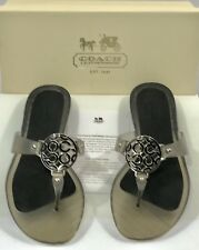 NEW Womens Coach A8039 Crissy Frosted Jelly Smoke Grey Sandals Size US 8 Medium