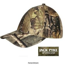 Jack Pyke Stealth Baseball Cap Forest Brown Camo Camouflage Hat Shooting Fishing