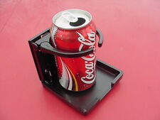 BLACK plastic tasse car suv truck folding coffee  CUP HOLDER usa made universal