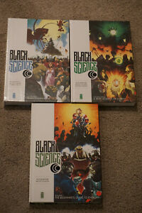 BLACK SCIENCE Volumes #1, 2 & 3 Over-Sized HCS IMAGE Rick Remender NEW/NM+