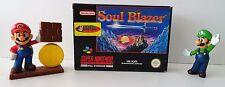 SUPER Nintendo SNES Gioco-Soul Blazer-ISTRUZIONI + OVP-CIB