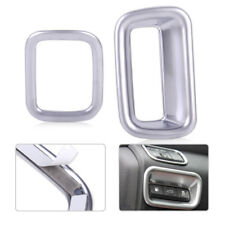 2xChrome Inner Light Lamp Switch Button Cover Trim Decor Fit KIA Optima K5 2016