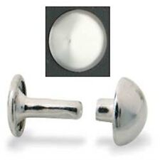 Domed Rivets 10 mm Nickel Plated 100/pk Tandy Leather 11321-12