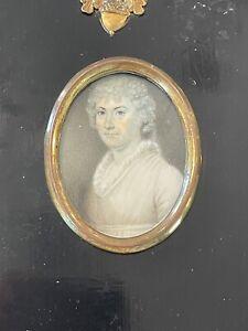 Antique Georgian 1820 well done portrait miniature of an elegant lady