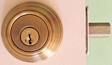 Kwikset SmartKey Signature Single Cylinder Deadbolt Antique Brass 9805 #78m