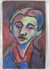 Gemälde Expressionist Portrait Kopf / Gesicht Mann