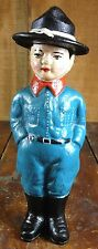 BOY SCOUTS OF AMERICA BOY SCOUT WWI SOLDIER RANGER CAST IRON STILL COIN BANK