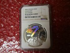 2006 S$30 Canada Canadarm Hologram NGC PF69 Space Astronaut .925 Silver Coin icg