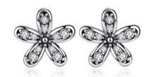 💎 🎀 plata esterlina 925 pendientes deslumbrante Daisy Daisies & Bolsa De Regalo