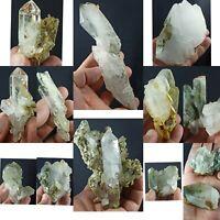 Beautiful Lot of Chlorine Quartz Crystals from Balochistan Pakistan 13pcs 1.9kg