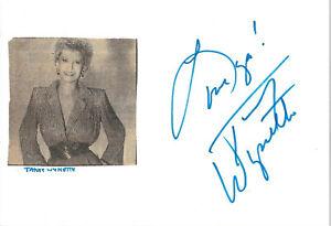 Tammy Wynette Autogramm signed 10x15 cm Karteikarte mit Magazinbild